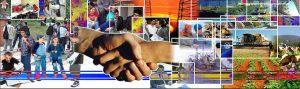 collage de imágenes de varias actividades y anos entrelazadas